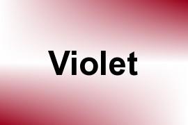Violet name image