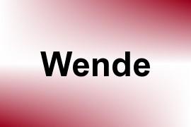 Wende name image