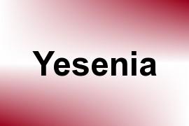 Yesenia name image