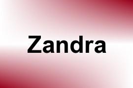 Zandra name image