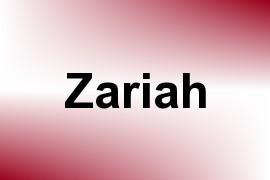 Zariah name image