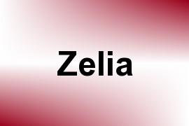 Zelia name image