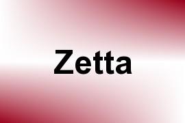 Zetta name image