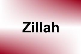 Zillah name image