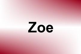 Zoe name image