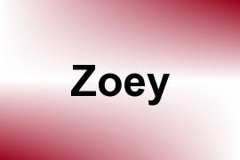 Zoey name image