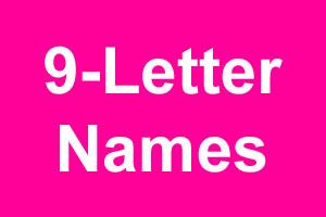 nine letter names