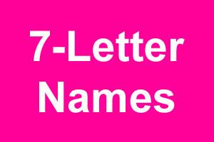 7 Letter Girl Names