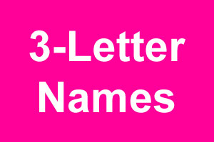 3 letter girl names 3 letter names 10405 | three letter names 300